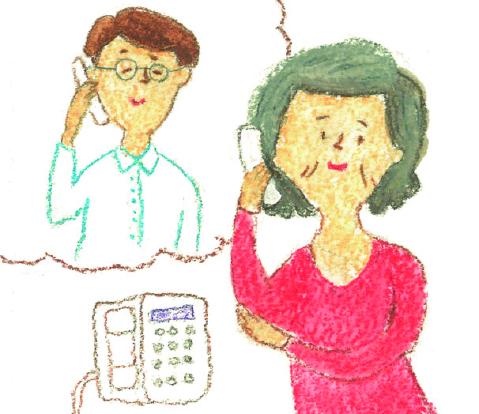 電話で問い合わせイラスト