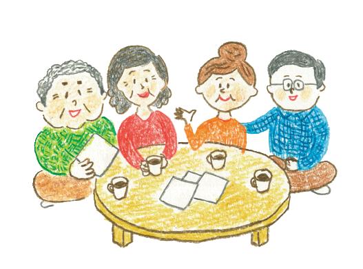 家族でプランを選ぶイラスト